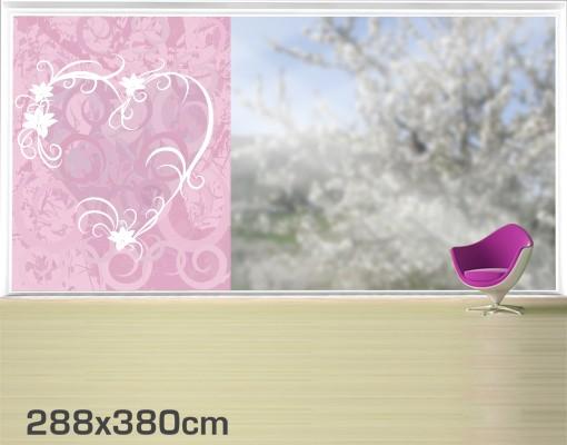 Produktfoto Fensterfolie - XXL Fensterbild Airy Love - Fenster Sichtschutz