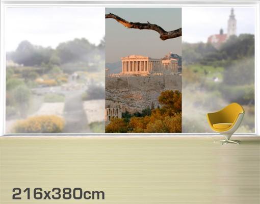 Produktfoto Fensterfolie - XXL Fensterbild Akropolis - Fenster Sichtschutz