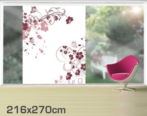 Produktfoto Fensterfolie - XXL Fensterbild Apricot Blossom - Fenster Sichtschutz