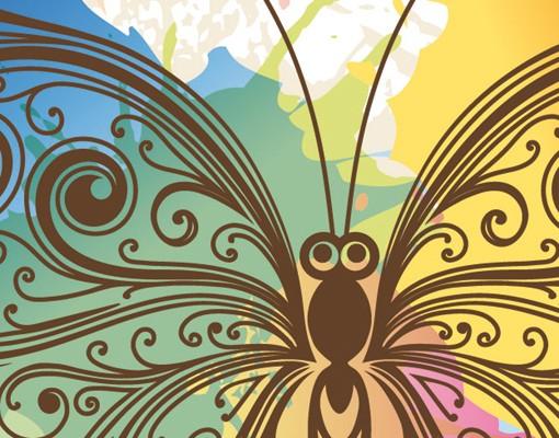Produktfoto Fensterfolie - XXL Fensterbild Aquarell Schmetterling - Fenster Sichtschutz