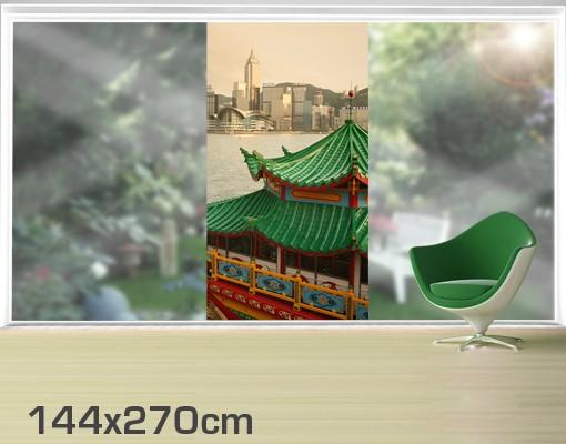 Produktfoto Fensterfolie - XXL Fensterbild Hongkong...