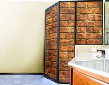 Produktfoto Fensterfolie - XXL Fensterbild Bricks -...