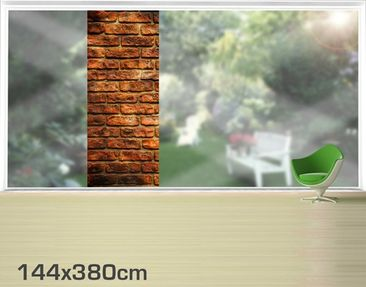 Product picture XXL Window Mural Bricks
