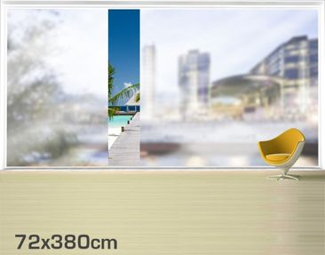 Product picture XXL Window Mural Catwalk To Paradise