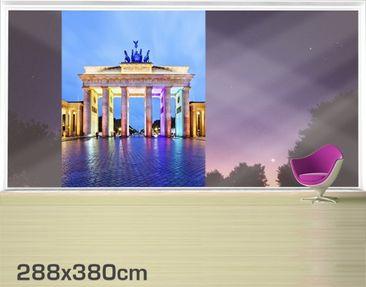 Product picture XXL Window Mural Illuminated Brandenburg...