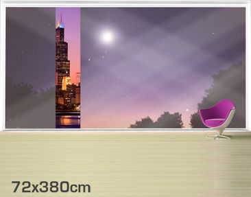 Product picture XXL Window Mural Chicago Skyline
