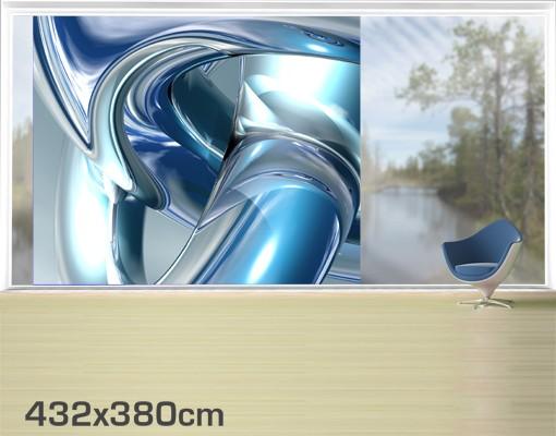 Produktfoto Fensterfolie - XXL Fensterbild Cold Steel - Fenster Sichtschutz