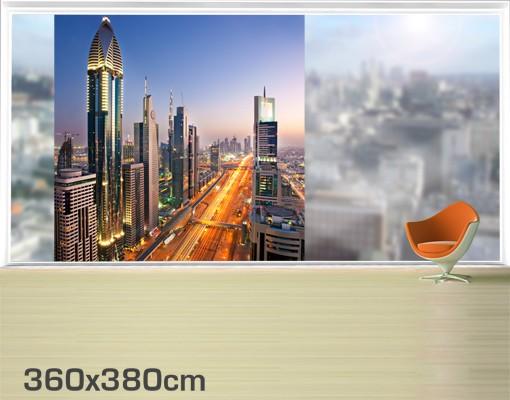 Produktfoto Fensterfolie - XXL Fensterbild Dubai - Fenster Sichtschutz