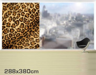Product picture XXL Window Mural Jaguar Skin