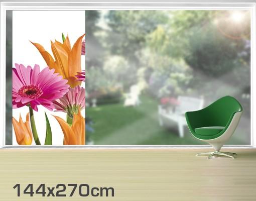 Produktfoto Fensterfolie - XXL Fensterbild Flower Melody - Fenster Sichtschutz