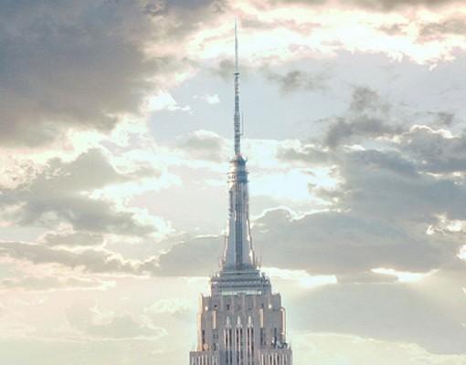 Produktfoto Fensterfolie - XXL Fensterbild Sonnenaufgang in New York - Fenster Sichtschutz