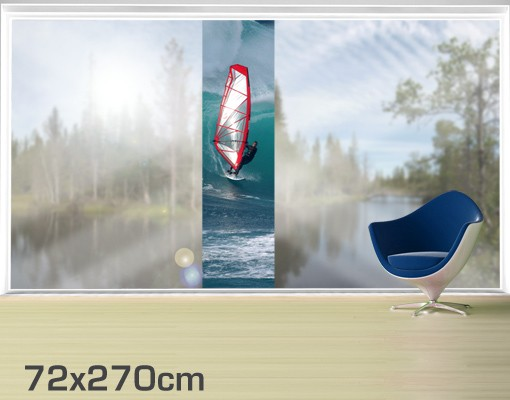 Produktfoto Fensterfolie - XXL Fensterbild The Surfer - Fenster Sichtschutz
