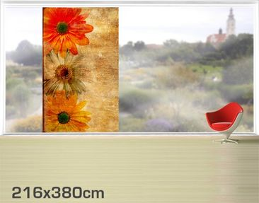 Product picture XXL Window Mural Vintage Flowermix