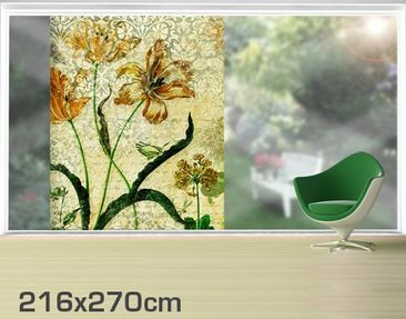 Product picture XXL Window Mural Vintage Grasses