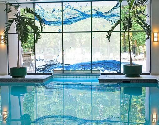 Produktfoto Fensterfolie - XXL Fensterbild Wasserwelten - Fenster Sichtschutz