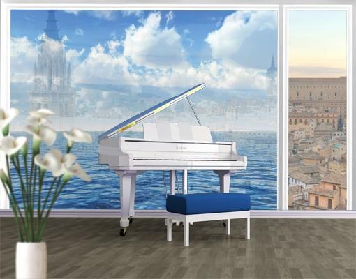 Produktfoto Fensterfolie - XXL Fensterbild Shining Ocean - Fenster Sichtschutz