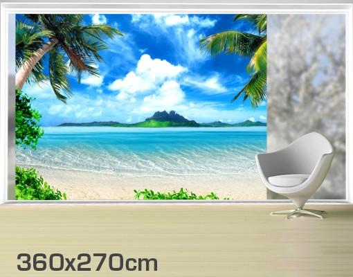 Produktfoto Fensterfolie - XXL Fensterbild Traumurlaub - Fenster Sichtschutz