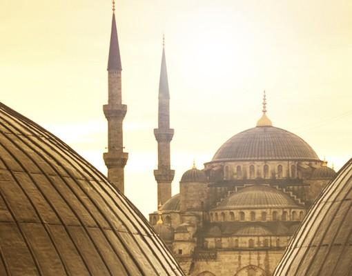 Produktfoto Fensterfolie - XXL Fensterbild Über den Dächern von Istanbul - Fenster Sichtschutz