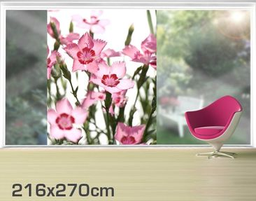 Product picture XXL Window Mural Pink Flowers
