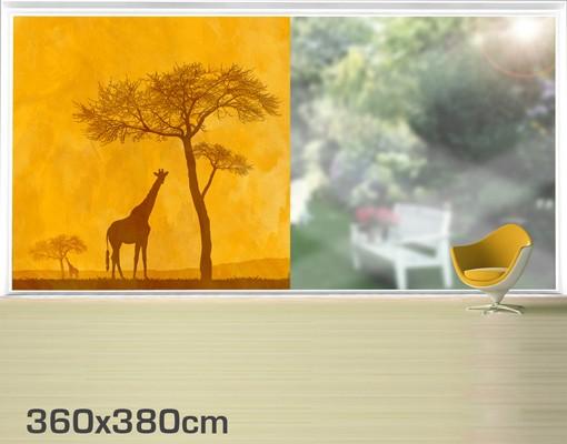 Produktfoto Fensterfolie - XXL Fensterbild Amazing Kenya - Fenster Sichtschutz