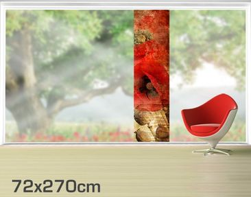 Product picture XXL Window Mural Poppy Flower