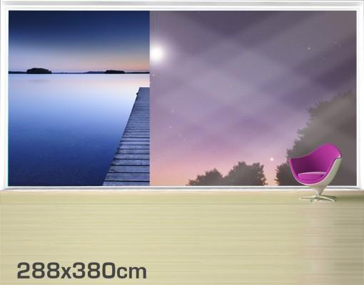 Produktfoto Fensterfolie - XXL Fensterbild Flußsteg...
