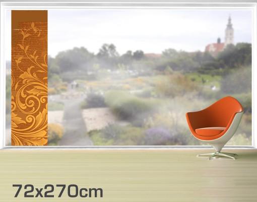 Produktfoto Fensterfolie - XXL Fensterbild Goldene Flora - Fenster Sichtschutz