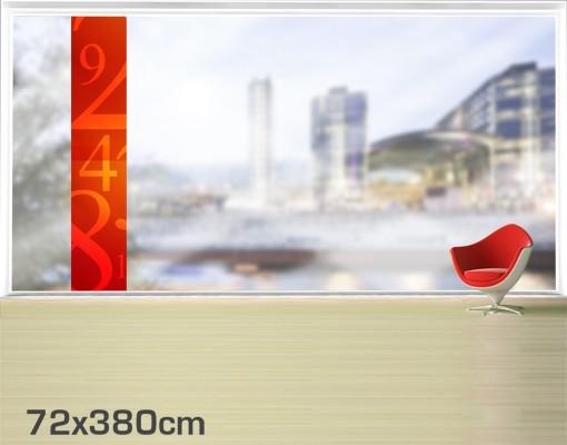 Produktfoto Fensterfolie - XXL Fensterbild Nummern - Fenster Sichtschutz