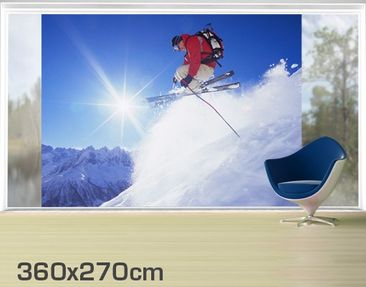 Product picture XXL Window Mural Ski-Jump