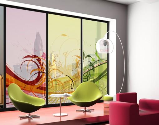 Produktfoto Fensterfolie - XXL Fensterbild Glory Colours - Fenster Sichtschutz