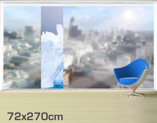 Produktfoto Fensterfolie - XXL Fensterbild Antarktischer Eisberg - Fenster Sichtschutz