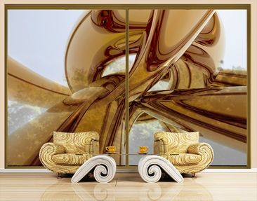 Product picture XXL Window Mural Golden Brilliance