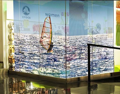 Produktfoto Fensterfolie - XXL Fensterbild Surfing Free - Fenster Sichtschutz