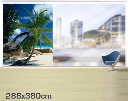 Produktfoto Fensterfolie - XXL Fensterbild Traumstrand - Fenster Sichtschutz