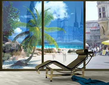 Product picture XXL Window Mural Dreamy Beach