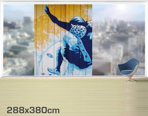 Produktfoto Fensterfolie - XXL Fensterbild Surfing - Fenster Sichtschutz