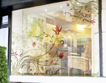 Product picture XXL Window Mural Fire Flower