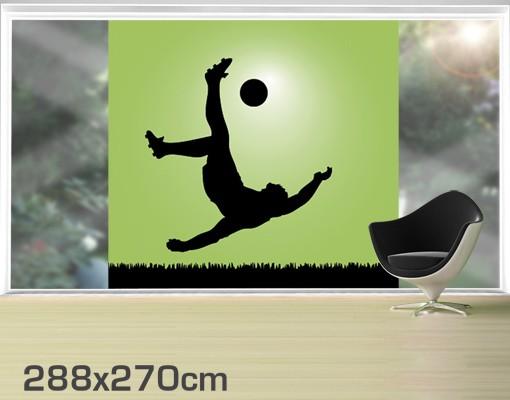 Produktfoto Fensterfolie - XXL Fensterbild Fußballer in Aktion - Fenster Sichtschutz