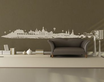 Product picture Wall Decal no.FB93 Dresden Skyline XXL