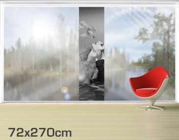 Product picture XXL Window Mural Kiss Of A Goldfish II