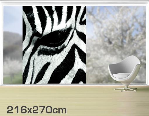 Produktfoto Fensterfolie - XXL Fensterbild Zebra Crossing - Fenster Sichtschutz