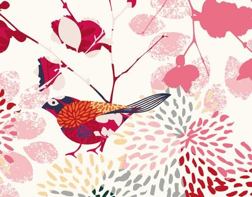 Produktfoto Fensterfolie - XXL Fensterbild Fancy Birds - Fenster Sichtschutz