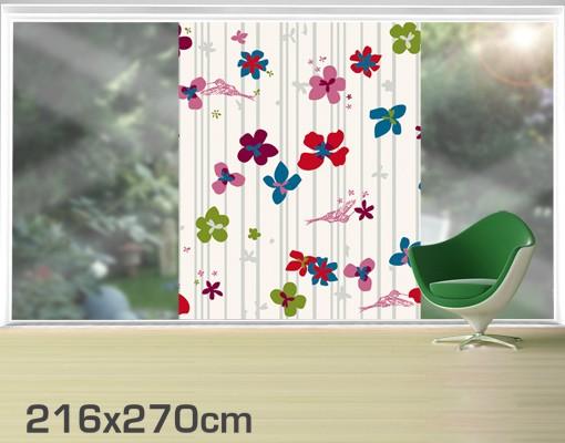 Produktfoto Fensterfolie - XXL Fensterbild Floral Pattern - Fenster Sichtschutz