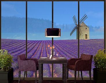 Produktfoto Fensterfolie - XXL Fensterbild Lavendelduft in der Provence - Fenster Sichtschutz