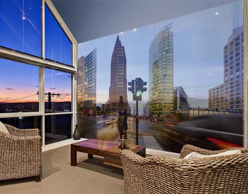Produktfoto Fensterfolie - XXL Fensterbild Potsdamer Platz - Fenster Sichtschutz
