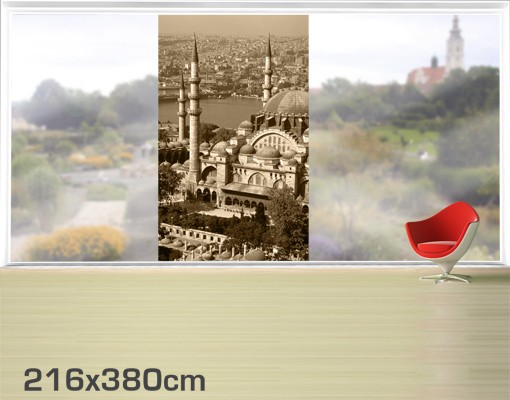 Produktfoto Fensterfolie - XXL Fensterbild Old Mosque - Fenster Sichtschutz