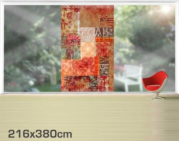 Product picture XXL Window Mural Calligraphy Pattern