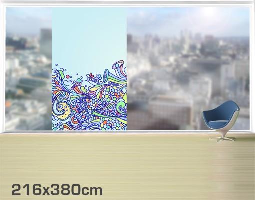 Produktfoto Fensterfolie - XXL Fensterbild Sommerlicher Blütentraum - Fenster Sichtschutz