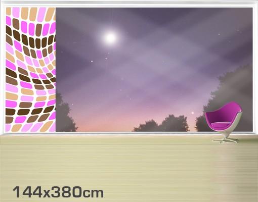 Produktfoto Fensterfolie - XXL Fensterbild Dancing Squares - Fenster Sichtschutz