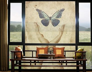 Produktfoto XXL Window Mural Fly, Butterfly